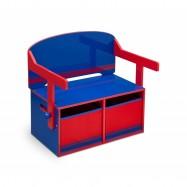 Dětská lavice s úložným prostorem  modro - červená TB84566GN