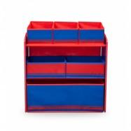 Box na hračky - Organizér modro - červený TB84608GN