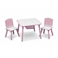 Dětský stůl s židlemi růžový TT89513GN