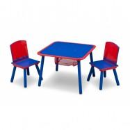 Dětský stůl s židlemi modro-červený TT89514GN