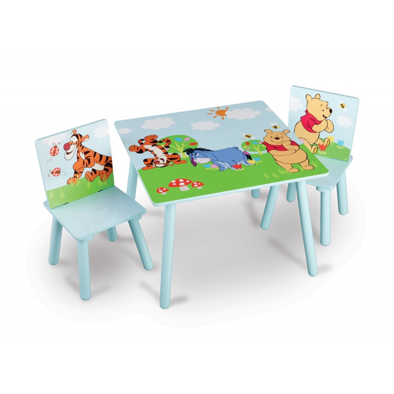 Dětský stůl s židlemi Medvídek Pú TT89314WP