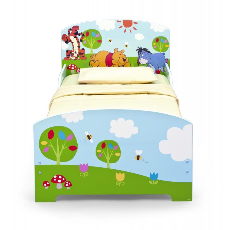 Dětská dřevěná postel Medvídek Pú BB87112WP