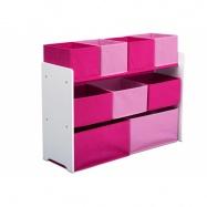 Organizér na hračky růžovo-bílý TB83413GN