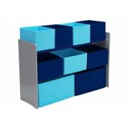 Organizér na hračky šedo-modrý TB83414GN