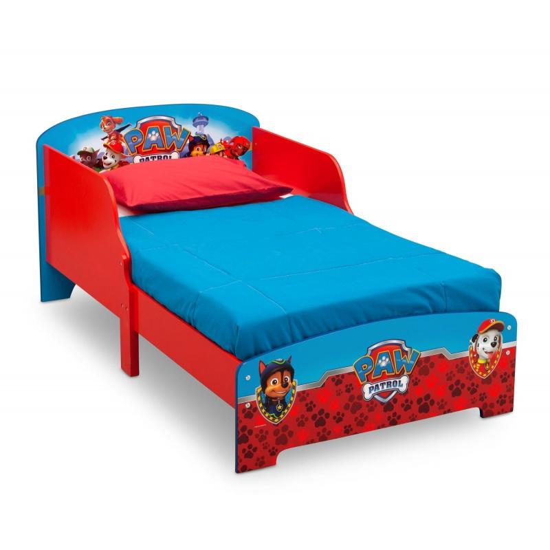Dětská dřevěná postel Tlapková patrola BB86921PW