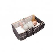 DOOMOO BASICS Baby travel přebalovací a přenosná taška, tm. šedá