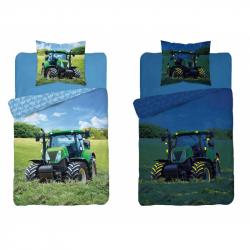 Detské svietiaci obliečky Traktor 140x200 cm