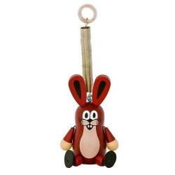 Drevené hračky - dekorácie postavička Zajac veľký na pružine