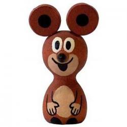 Dřevěné hračky - dřevěné dekorace - Myška magnet