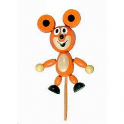 Dřevěné hračky - dřevěné dekorace - Myška magnetka