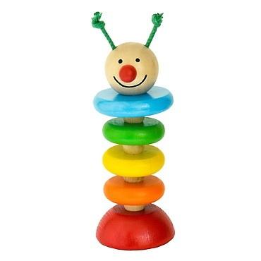 Dřevěné hračky - Hračky pro nejmenší - Housenka na gumě