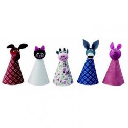 Drewniane zabawki - postacie z bajek - zwierzątka