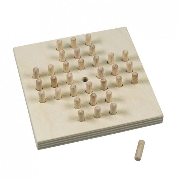 Solitér drevená hra vo fólii 10x10cm