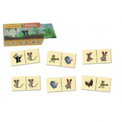 Domino Krtek dřevo společenská hra 28 dílků v dřevěné krabičce 18x11x5cm