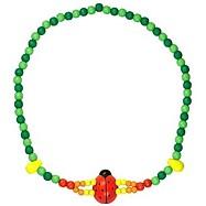 Dětský náhrdelník 2x provlečnená beruška