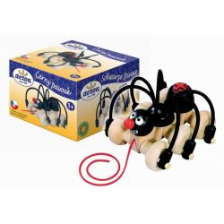 Czarny pająk na sznurku