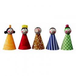 Drewniane zabawki - Pacynki - postacie z bajek