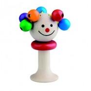 Dřevěné hračky pro nejmenší - Hrkadlo panenka