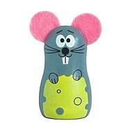 Dřevěné hračky -  dekorace - Magnetka myška