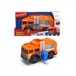 Śmieciarka pomarańczowa 30cm Dickie Toys