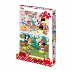Puzzle 2x77 dílků: Pracovitá Minnie
