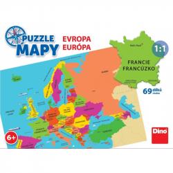 Puzzle 58 dílků mapy Evropa