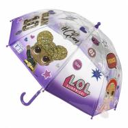 Detský manuálny dáždnik LOL priesvitný fialový
