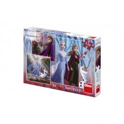 Puzzle 3v1 Ledové království II/Frozen II 3 x 55 dílků v krabici 27x19x4cm