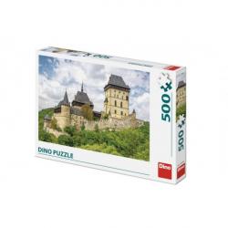 Puzzle hrad Karlštejn 47x33cm 500 dielikov v krabici 33,5x23x3,5cm