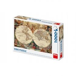 Puzzle historická mapa 1000 dílků 66x47cm v krabici 32x23x7cm