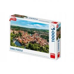 Puzzle Český Krumlov dron 1000 dielikov 66x47cm v krabici 32x23x7cm