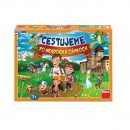 Cestujeme po hradoch a zámkoch společenská hra v krabici  SK design
