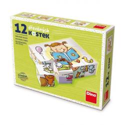 Dino Pekný deň 12 drevené kocky