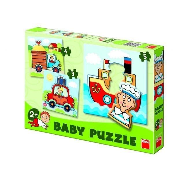 Dino baby puzzle autíčka