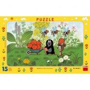 Puzzle 15 Krecik na wycieczce DINO