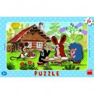 Puzzle 15 dielikov doskové Krtko na návšteve