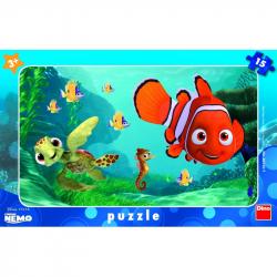 DINO Puzzle Planszowe Nemo i żółw 15szt
