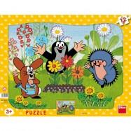 Puzzle 12 Krecik ogrodnik DINO