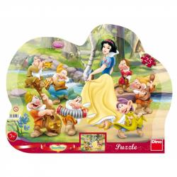 Puzzle 25 Królewna Śnieżka i 7 krasnoludków DINO