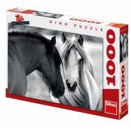 Černobílí koně 1000D