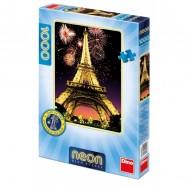 Noční Eiffelovka 1000D neon