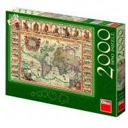 Historická mapa světa 2000D