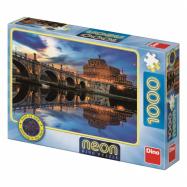 Dino Neon Puzzle Angel Castle 1000 sztuk