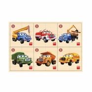 puzzle dřevěné Tatra 6x4 dílků