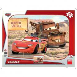 Puzzle 12 Ramkowe Auta: Zygzak i Złomek DINO