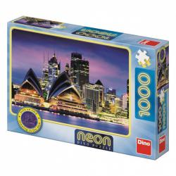 Dino Puzzle Opera House w Sydney neon 1000 sztuk