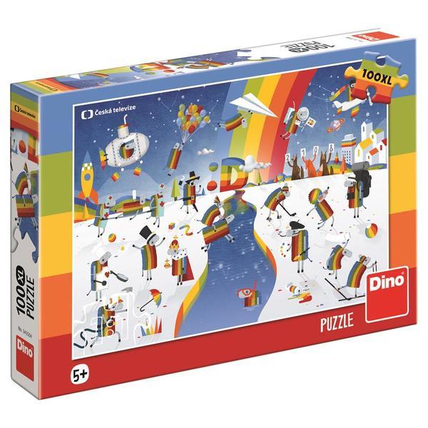 Dino Puzzle Čt Déčko 100 XL dílků