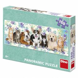 Dino Puzzle Psi a kočky 150 dílků