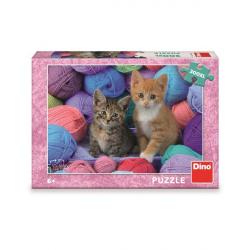 Dino Puzzle Koťátka ve vlně 300 XL dílků