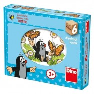 Drevené obrázkové kocky - Kubus veselý Krtko 6 kociek